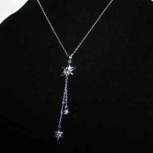 Beautiful silver and CZ snow flake necklace